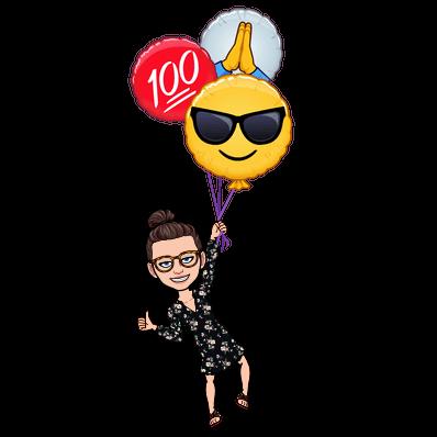 cool emoji balloons