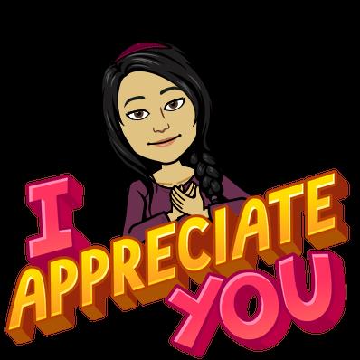 I appreciate you