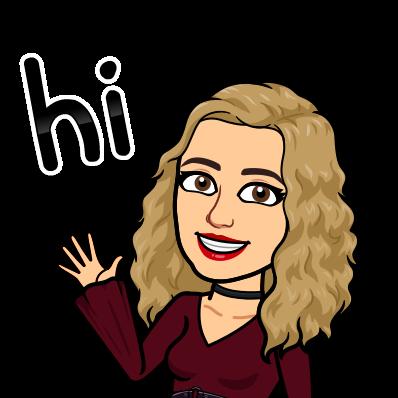 Bitmoji of Ms. Swann waving hello.