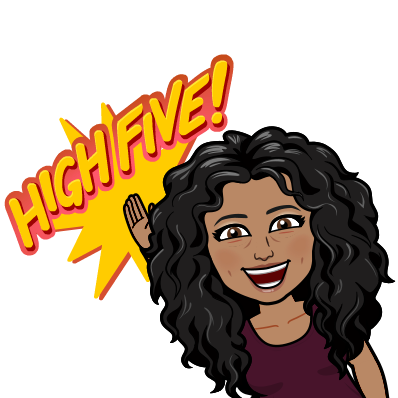 Bitmoji Image with High Five