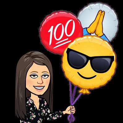 thanks emoji balloons