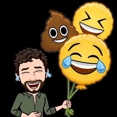 laughing emoji balloons