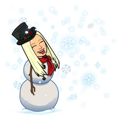 catching snowflakes snowman