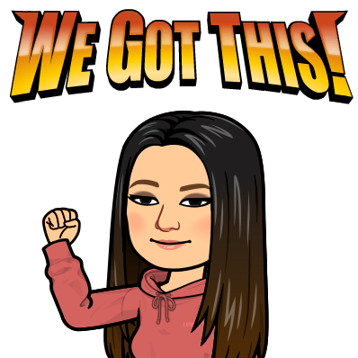Bitmoji Image Ms. Kang We Got This