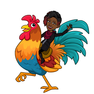 riding a rooster