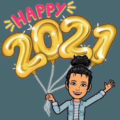 happy 2021 balloons