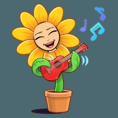 ukulele sunflower