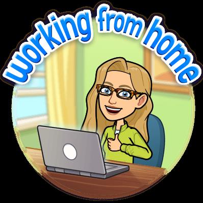 Alice Bitmoji Working From Home