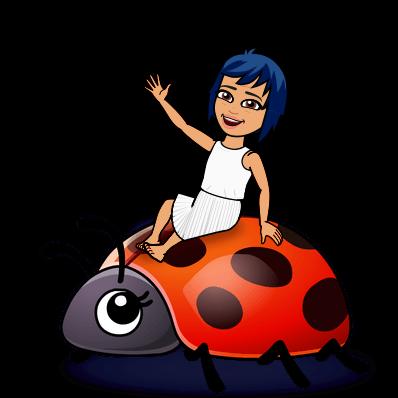 riding a ladybug
